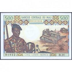 Mali - Pick 12e - 500 francs - Série B.21 - 1981 - Etat : SPL+