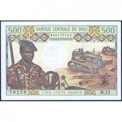 Mali - Pick 12e - 500 francs - Série B.21 - 1981 - Etat : NEUF