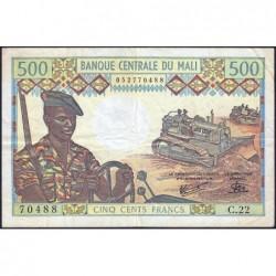 Mali - Pick 12e - 500 francs - Série C.22 - 1981 - Etat : TB+