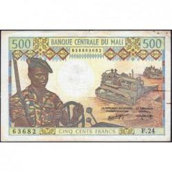 Mali - Pick 12f - 500 francs - Série F.24 - 1981 - Etat : TB+