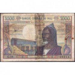 Mali - Pick 13b - 1'000 francs - Série G.19 - 1974 - Etat : B-