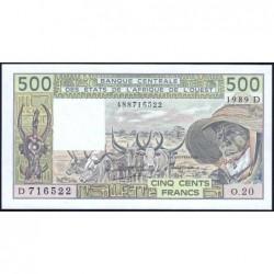 Mali - Pick 405Dh - 500 francs - Série O.20 - 1989 - Etat : NEUF