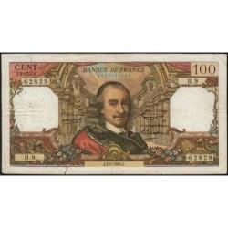 F 65-01 - 02/04/1964 - 100 francs - Corneille - Série H.9 - Etat : B+