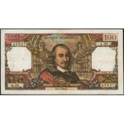 F 65-02 - 02/07/1964 - 100 francs - Corneille - Série A.20 - Etat : TB