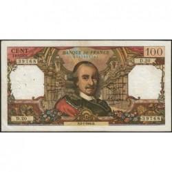 F 65-02 - 02/07/1964 - 100 francs - Corneille - Série D.20 - Etat : TB