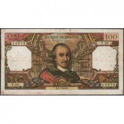 F 65-02 - 02/07/1964 - 100 francs - Corneille - Série T.20 - Etat : TB-