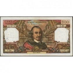 F 65-02 - 02/07/1964 - 100 francs - Corneille - Série T.20 - Etat : TB+