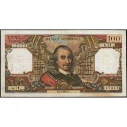 F 65-02 - 02/07/1964 - 100 francs - Corneille - Série A.21 - Etat : TB