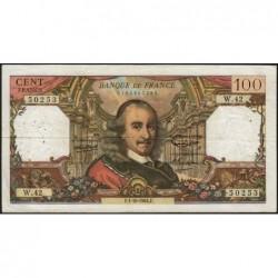 F 65-04 - 01/10/1964 - 100 francs - Corneille - Série W.42 - Remplacement - Etat : TB