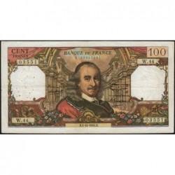 F 65-04 - 01/10/1964 - 100 francs - Corneille - Série W.44 - Remplacement - Etat : TB+