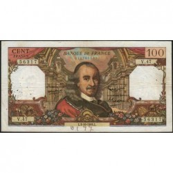 F 65-04 - 01/10/1964 - 100 francs - Corneille - Série V.47 - Etat : TB-