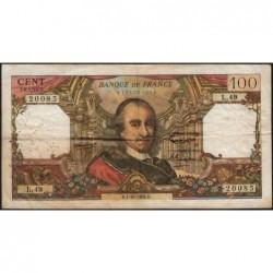 F 65-04 - 01/10/1964 - 100 francs - Corneille - Série L.49 - Etat : B+