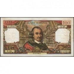 F 65-04 - 01/10/1964 - 100 francs - Corneille - Série X.49 - Etat : TB