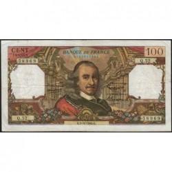F 65-04 - 01/10/1964 - 100 francs - Corneille - Série Q.52 - Etat : TB