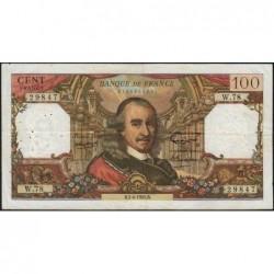 F 65-07 - 01/04/1965 - 100 francs - Corneille - Série W.78 - Remplacement - Etat : TB+