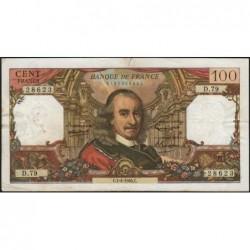 F 65-07 - 01/04/1965 - 100 francs - Corneille - Série D.79 - Etat : TB