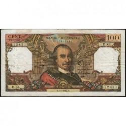 F 65-07 - 01/04/1965 - 100 francs - Corneille - Série D.84 - Etat : TB-