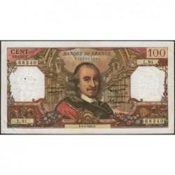 F 65-07 - 01/04/1965 - 100 francs - Corneille - Série L.91 - Etat : TB+