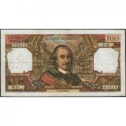 F 65-07 - 01/04/1965 - 100 francs - Corneille - Série P.91 - Etat : TB