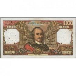 F 65-07 - 01/04/1965 - 100 francs - Corneille - Série X.92 - Etat : TB+