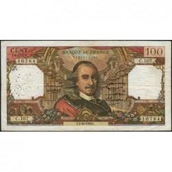 F 65-09 - 07/10/1965 - 100 francs - Corneille - Série C.107 - Etat : TB-