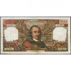 F 65-09 - 07/10/1965 - 100 francs - Corneille - Série S.107 - Etat : TB-