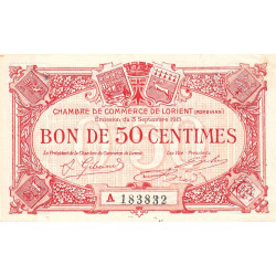 Lorient (Morbihan) - Pirot 75-20-A - 50 centimes - Etat : SUP
