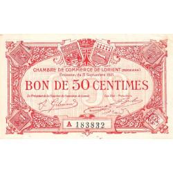 Lorient (Morbihan) - Pirot 75-20 - Série A - 50 centimes - 1915 - Etat : SUP