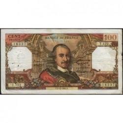 F 65-10 - 02/12/1965 - 100 francs - Corneille - Série T.122 - Etat : B+