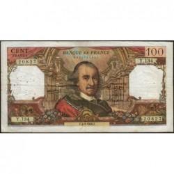F 65-11 - 03/02/1966 - 100 francs - Corneille - Série Y.134 - Etat : TB