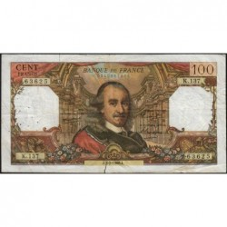 F 65-11 - 03/02/1966 - 100 francs - Corneille - Série K.137 - Etat : TB-