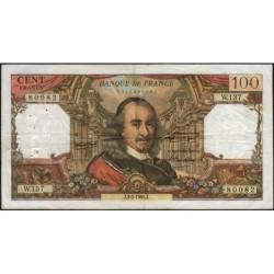 F 65-11 - 03/02/1966 - 100 francs - Corneille - Série W.137 - Remplacement - Etat : TB