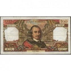 F 65-11 - 03/02/1966 - 100 francs - Corneille - Série R.142 - Etat : TB