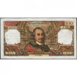 F 65-12 - 07/04/1966 - 100 francs - Corneille - Série N.145 - Etat : TB