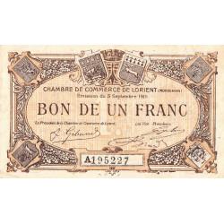 Lorient (Morbihan) - Pirot 75-21 - Série A - 1 franc - 1915 - Etat : TB+