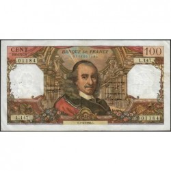F 65-12 - 07/04/1966 - 100 francs - Corneille - Série L.147 - Etat : TB+