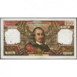 F 65-12 - 07/04/1966 - 100 francs - Corneille - Série N.148 - Etat : TB+