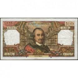 F 65-12 - 07/04/1966 - 100 francs - Corneille - Série T.148 - Etat : TB-