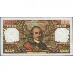 F 65-12 - 07/04/1966 - 100 francs - Corneille - Série A.150 - Etat : TB+