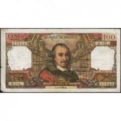 F 65-12 - 07/04/1966 - 100 francs - Corneille - Série H.151 - Etat : B+