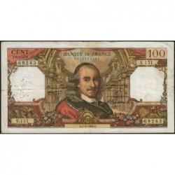 F 65-12 - 07/04/1966 - 100 francs - Corneille - Série S.151 - Etat : TB-