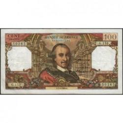 F 65-12 - 07/04/1966 - 100 francs - Corneille - Série G.153 - Etat : TB+