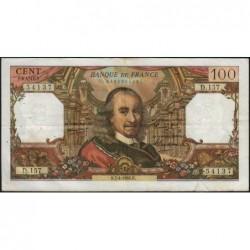 F 65-12 - 07/04/1966 - 100 francs - Corneille - Série D.157 - Etat : B