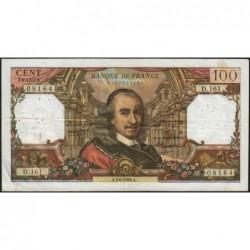 F 65-13 - 02/06/1966 - 100 francs - Corneille - Série D.161 - Etat : TB+
