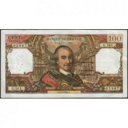 F 65-13 - 02/06/1966 - 100 francs - Corneille - Série G.161 - Etat : TB+