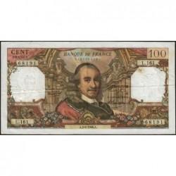 F 65-13 - 02/06/1966 - 100 francs - Corneille - Série L.161 - Etat : TB
