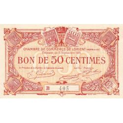 Lorient (Morbihan) - Pirot 75-26 - Série B - 50 centimes - 1915 - Etat : SPL