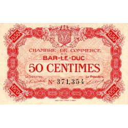 Bar-le-Duc - Pirot 19-9 - 50 centimes - 01/09/1917 - Etat : TTB+