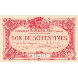 Lorient (Morbihan) - Pirot 75-32 - 50 centimes - Série D - 30/04/1920 - Etat : SUP+