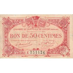 Lorient (Morbihan) - Pirot 75-35 - Série E - 50 centimes - 1920 - Etat : TB
